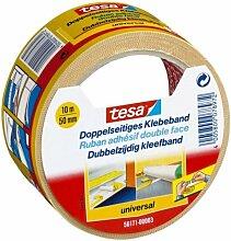 2 x Tesa Heimwerker 56171-00006 doppelseitiges Klebeband, 10 m x 50 mm