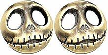 2 x Totenkopf Kürbisgesicht Emblem Jack
