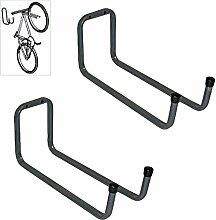 2 x Wand Montiert 250mm Werkzeug, Fahrrad Doppel Lagerhaken für Garagen Schuppen & Workshops