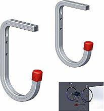 2 x Wand und Deckenmontage 50 kg Fahrrad Aufbewahrung Haken, Leitern Werkzeuge Bracket Garage