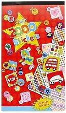 2x Wandtattoo Kinder erstellen Buch {über 2000Aufkleber–Ideal für Belohnungen}
