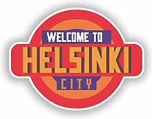 2x Welcome to Helsinki Vinyl Aufkleber Reise