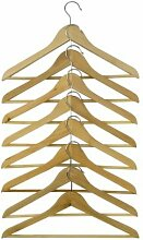2 XIKEA BUMERANG - Curved clothes hanger natural /