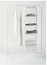 2 XIKEA MULIG - Clothes rack, white - 99x46 cm