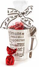2 zum Preis von 1 - Edle Weihnachtstasse mit