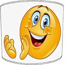 20,3cm Tisch Emoji Smiley, lampshades4, 20 cm