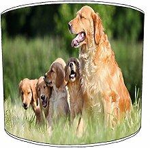 20,3cm Tisch Golden Retriever Hund Puppy Lampshades1, 20 cm