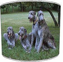 20,3cm Tisch Wolfshund Hund Puppy lampshades7, 20 cm