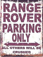 20,3x 25,4cm Range Rover Parking Schild retro vintage Stil 20,3x 25,4cm 20x 25cm Auto Schuppen Dose Garage Werkstatt Art Wand