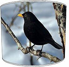 20.3cm Tisch schwarzer rabe druck garten vogel