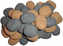 20, Beige Grau Gaskeramiköfen Pebbles Ersatz Bio