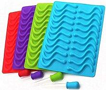 20 Cavity Silikon Gummy Schlange Worms Mold