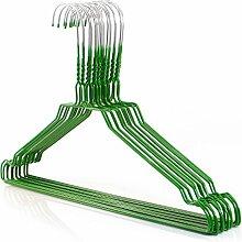 20 Drahtkleiderbügel verzinkt mit grüner