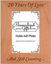 20. Hochzeitstag Geschenke Love natur Holz Gravur