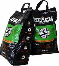 20 Kg Beach Kokos Grill Briketts von BlackSellig reine Kokosnussschalen Grillkohle - perfekte Profiqualität - REACH registrier