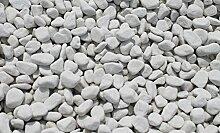 20 kg Carrara Kies - Marmorkies weiß - Körnung 18 - 25 mm