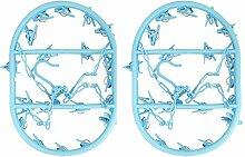 20Klammern Kleiderbügel–geeignet sowohl für Innen- und Außeneinsatz (blau, 2Stück)