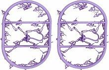 20Klammern Kleiderbügel–geeignet sowohl für Innen- und Außeneinsatz (lila, 2Stück)