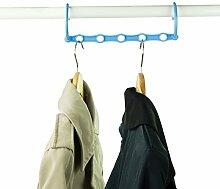"20Kleiderbügel platzsparend 100Kleidungsstücke % ""Les Bleus""."