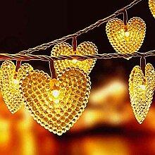 20 LED Herz Geformte Schnur Lichterkette Außen,