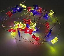 20LED-künstliche Blumen Perlen-Lichterkette,