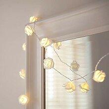 20 LED Rosen Blumen Lichterkette Batteriebetrieben