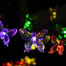 20 LED Solarlichterkette Weihnachtsbeleuchtung im