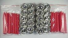 20 Metall Silber Klemmen Clip Weihnachtsbaum