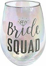 20Oz ohne Stiel Glas Alkohol Braut Squad