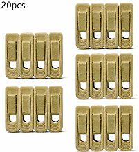 20 Packs Premium Samt-Kleiderbügel Clips,