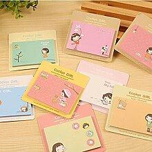 20 PCS 100 Pages Notes Cute Memo Pads Sticker 8er