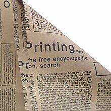 20 PCS Handpapier Zeitung Blume Einwickelpapier