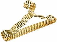 20 PCS Kleiderbügel aus Metall Rutschfest Anzugbügel Jackenbügel Wäschebügel (Gelb)