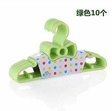 20 pcs/Los 27 cm Baby Kleiderbügel Kleiderbügel für Kinder Wäscheständer, Grün