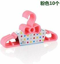 20 pcs/Los 27 cm Baby Kleiderbügel Kleiderbügel für Kinder Wäscheständer, Rosa