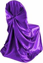 20Satin Universal selbst Krawatte Stuhl deckt Hochzeit Party Dekorationen versandkostenfrei 2Farbe cadbury purple