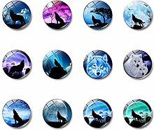 20 schöne Glas-Kühlschrank-Magnete, lustige