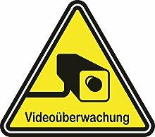 20 Stück - Aufkleber Videoüberwachung A056