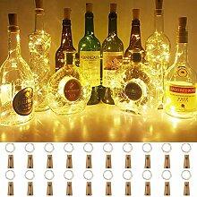 (20 Stück) Flaschen licht, BACKTURE 2M 20 LEDs