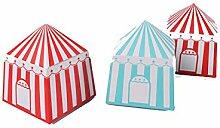 20 Stück gestreifte Boxen Zirkus-Party-Zelt