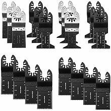 20Stück Holz/Bimetall universal Multitool Quick Release Sägeblätter, oszillierendes Werkzeug Klingen passen für Fein Multimaster dewal Porter Rockwell Kabel Black & Decker Bosch Handwerker Dremel Chicago