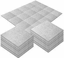20 Stück selbstklebende Teppichfliesen 25 x 25 cm