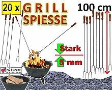 20 Stück SET Grillspieße Grillspieß 1 m Länge