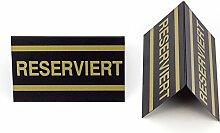 20 Stück Tisch Aufsteller RESERVIERT Info / Schild / Bistro / Gastronomie / Restauran