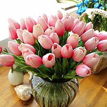 20 Stück Tulpe künstliche Blume Latex Real Touch