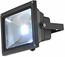 20 Watt LED Außen Strahler Spot Leuchte bunt Garten Baustrahler schwenkbar Farbwechsler Alu IP65 Globo 34119