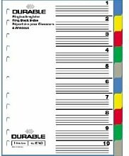20 X DURABLE Ordnerregister f.A4 farb.Abl. 10tlg