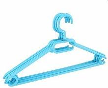 20 x Kleiderbügel drehbar Set Wäschebügel Kinderschrank Bügel Kunststoff Drehbügel (hellblau)