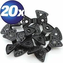 20 x Spezial Kunststoff-Clips für Planen uvm.
