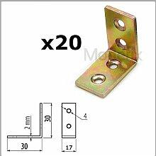 20x Starke Stahl Winkel Halterung Bar 30x 30mm/Ecke/L Form/Korsett/Box